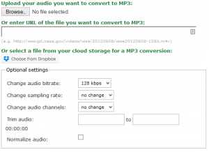 convert to an MP3 or MP4