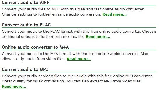 audio file types
