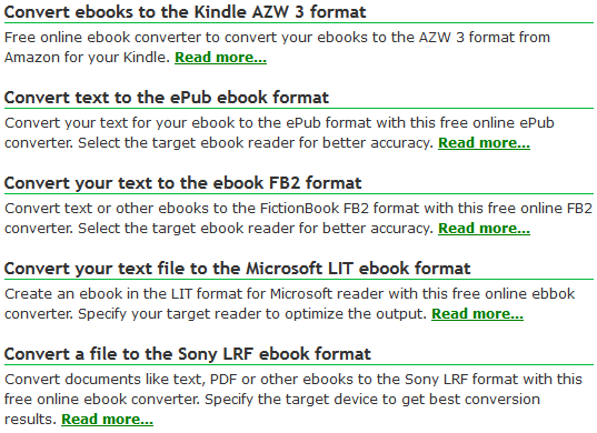 ebook file formats