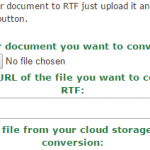 convert to RTF