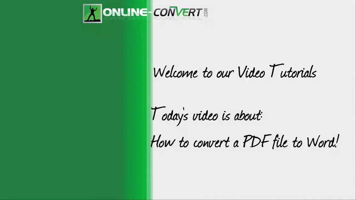 How To Convert PDF To Word | Online file conversion blog