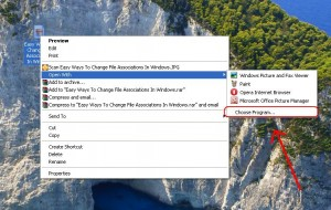 See how to change file extensions associations in Windows
