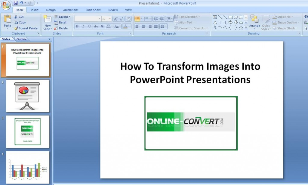 How To Transform Images Into PowerPoint Presentations
