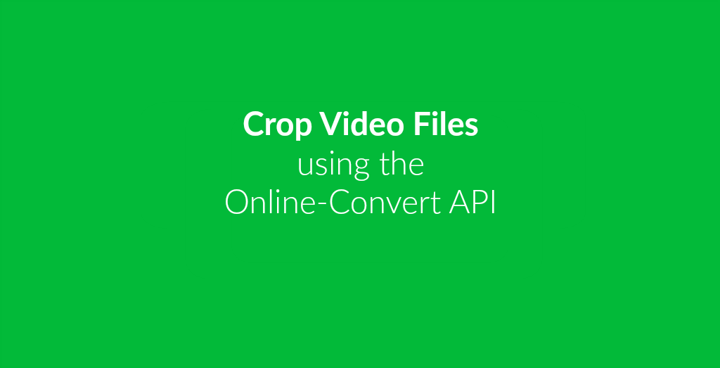 Crop Video Files