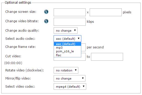 NEW Feature: Change Audio Codec | Online file conversion blog