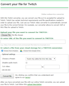 Upload Videos To Twitch | Online file conversion blog