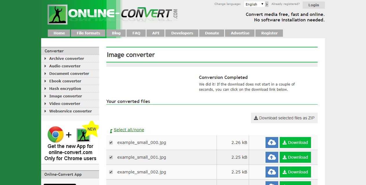 Online-Convert com's New Multi-File Download | Online file