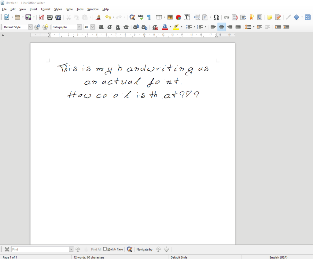 My Handwriting As A Font | Online file conversion blog